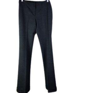 THEORY Grey tweed pants front zipper Sid pockets